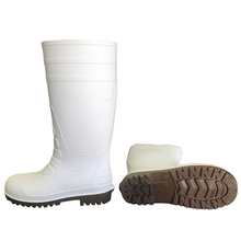 108-5 food industry white steel toe pvc safety gumboots
