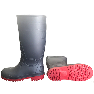 108-7 china steel toe pvc safety rain boots on sale