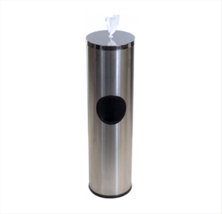 Floor standing Stainless Steel Gym Wipes Dispenser