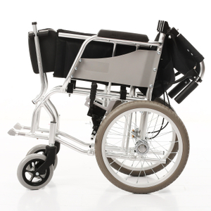 Lightweight Foldable Attendant Controlled Travel Wheelchair