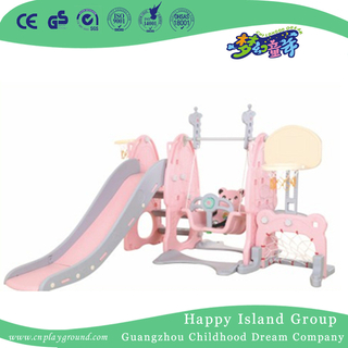 Family Plastic Small Slide With Swing For Kids Play (Ml-2014406)