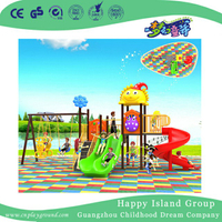 Colorful Cartoon Children Slide and Swing Playground (BBE-B21)
