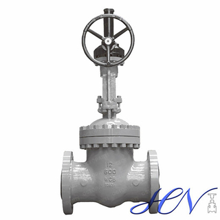 Industrial Rising Stem Cast Steel Flanged Gear Operated Gate Valve
