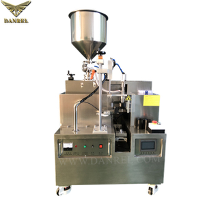 Semiautomatic Bench Top Ultrasonic Plastic Tube Filling Sealing Machine for Cosmetic Cream with Cutting And Batch Coding