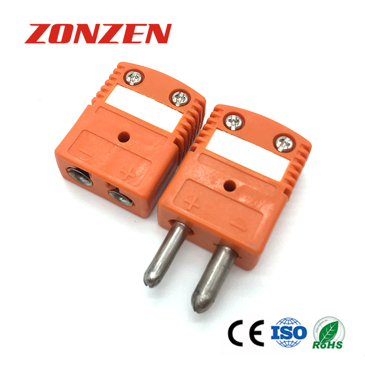 Most Pupular Standard Size Round Pin 2 Pole Thermocouple TC Connector