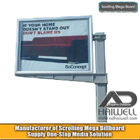Cantilever Scrolling Rotating Dynamic Ads Display Billboard