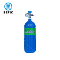 High Pressure 6.7L Seamless Steel Medical Oxygen Cylinder With Valve