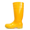 F30YY yellow lightweight steel toe cap pvc safety wellington boot