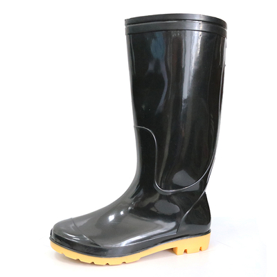 SQ-BY 2 dollar very cheap waterproof black pvc glitter rain boots for work