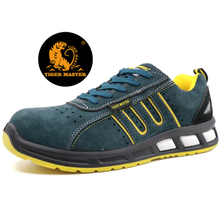 Oil resistant suede leather anti static fashion sport style safety shoes