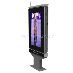 Shape-customized 55 inch digital outdoor advertising kiosk with DEDI access
