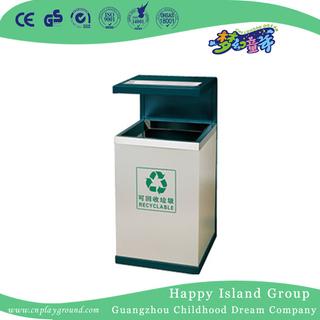 Simple Outdoor Metal Trash Can For Public (HHK-15306)