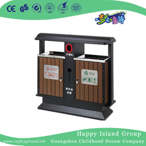 Outdoor Double Wooden Trash Can On Promotion (HHK-15203)