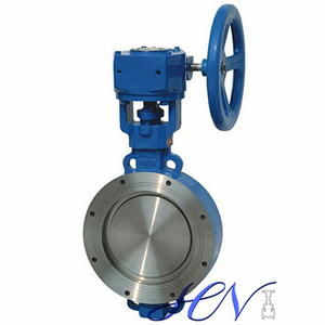 Carbon Steel Wafer Type Gear Operated Triple Eccentric Butterfly Valve