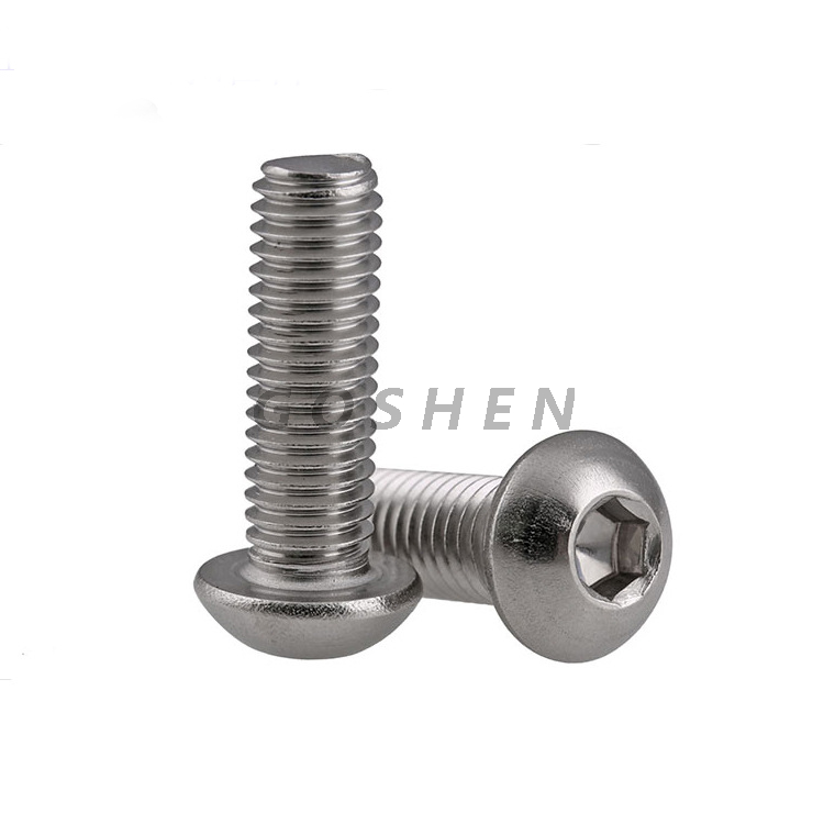 Stainless Steel ISO7380 304 Hexagon Socket Button Head Bolt