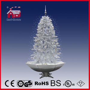 (40110U190-SW) 2.1m White Snowing Christmas Tree Xmas Decoration with Music LED