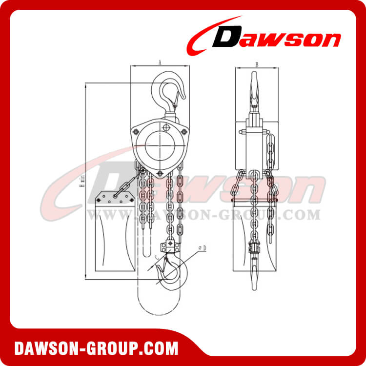 HSS-F type stainless steel chain hoist(Totally enclosed) - dawson group