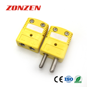 Thermocouple connector standard size round 2 pins universal female