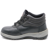 RB1094 Black leather rubber sole cemented steel toe cap oil industrial safety shoes