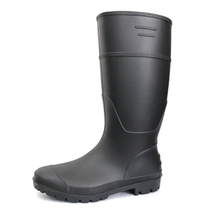 A8-BB Black non safety cheap matte pvc rain boots for work