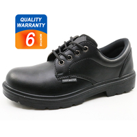6005 Black microfiber leather steel toe executive safety shoes work