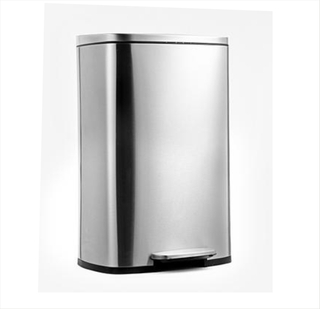 Stainless Steel Dustbin with Manual Foot Lever - Rectangular, 50L