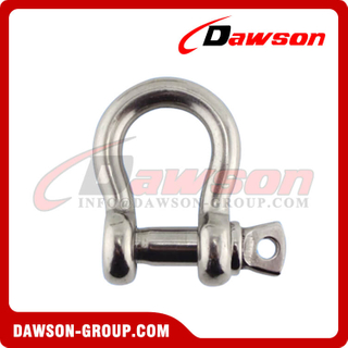 Stainless Steel G209 US Type Bow Shackle, SS 304 G209 US Type Bow Shackle