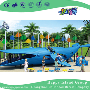 Outdoor Children Park Whale Shape Climbing Animal Playground (HHK-4101)