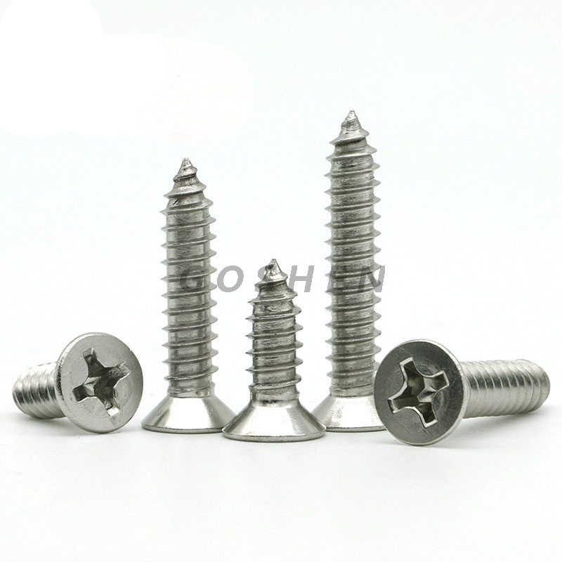 stainless steel 304 a2-70 Slotted countersunk head tapping screws