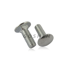 Stainless Steel Flat Head Metric M6 Carriage Bolt
