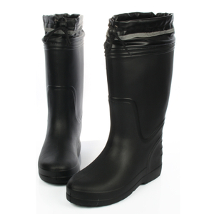 JW-310 Black slip resistant non safety mens EVA rain boots for work