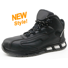 ETPU05 black leather pu injection sport safety boots