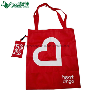 Shopping Polyester Foldable Bag with a Small Pouch (TP-FB167)