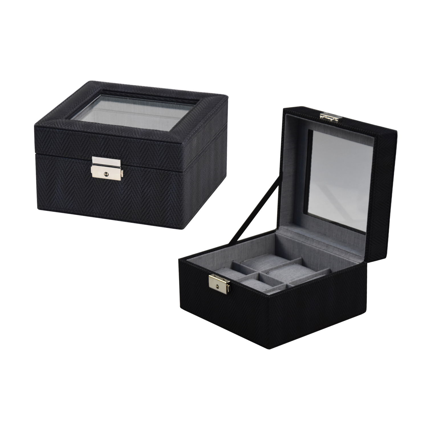 Customized White PU Leather Gift Box Watch with Pillow