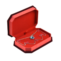 2020 New Design Chinese Red Style Bracelet Necklace Rings A Set of Jewelry Box for Wedding