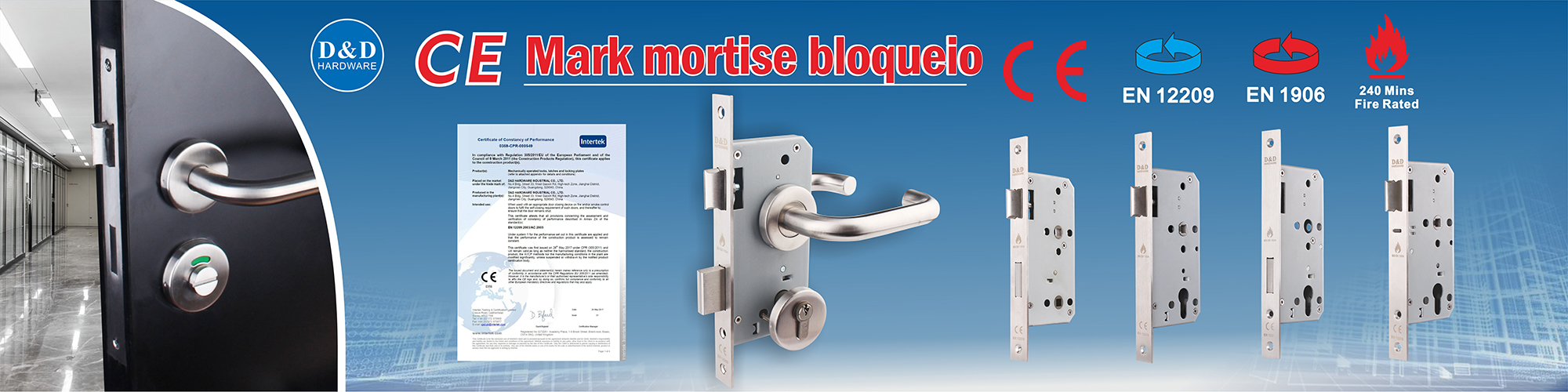 CE mortise lock