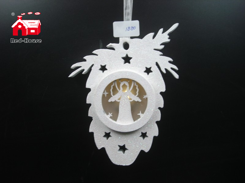 Christmas Decorative Fruit Shape Hanging Led Light with Nativity Scene Made by Plastic From Christmas Decoration Supplies