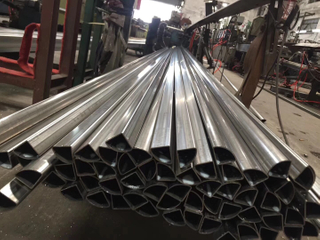 bright finished special shape stainless steel tube