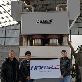 Steel Door Embossing and Shearing Machines for Uzbekistan customer, HARSLE's feedback