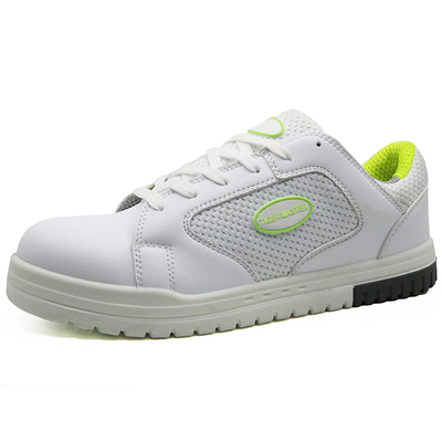 White pu injection metal free breathable casual sport safety shoes