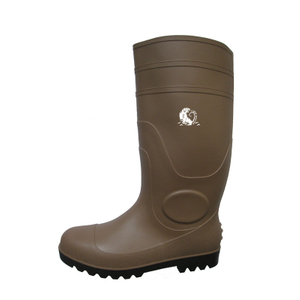 ZBS CE approved waterproof anti slip plastic safety rain boot with steel toe