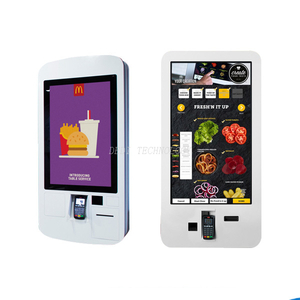 32inch PCAP touch screen bill case payment kiosk 4K UHD Restaurant interactive order kiosk Android 7.1 OS