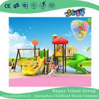 Kindergarten Outdoor Children Play Slide and Swing Combination Set (BBE-B0)