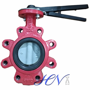 Wrench Operated Fully Lugged Cast Iron Centric Butterfly Valve
