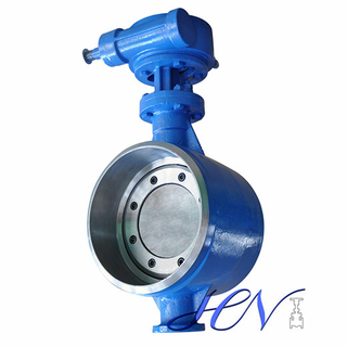 High Pressure Industrial Butt Welding Carbon Steel Tricentric Butterfly Valve