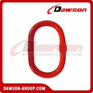 DS093 G80 A344 U.S. Type Welded Master Link with Flat for Chain Lifting Slings / Wire Rope Lifting Slings