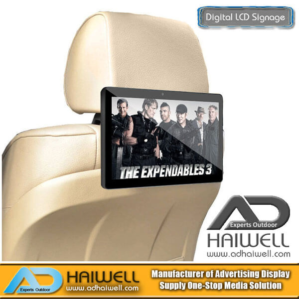 "10.1"" Taxi Passenger Car Headrest Advertising Touching Digital LCD Display"