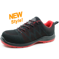 SU024 oil resistant plastic toe cap light weight stylish safety shoes sport