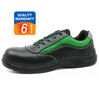 PU injection black leather steel toe cap safety shoes bangladesh