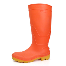 F35RY waterproof non slip steel toe cap pvc safety rainboot